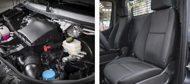 Mercedes-benz sprinter motor och säte