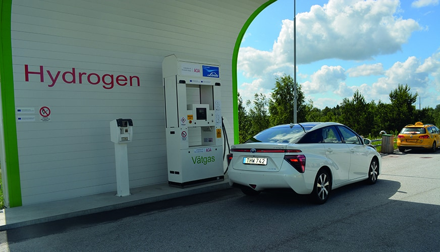 Bränslecellsdrivna vätgasbilar