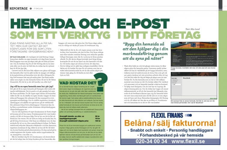 Hemsida och E-post som ett verktyg i ditt företag