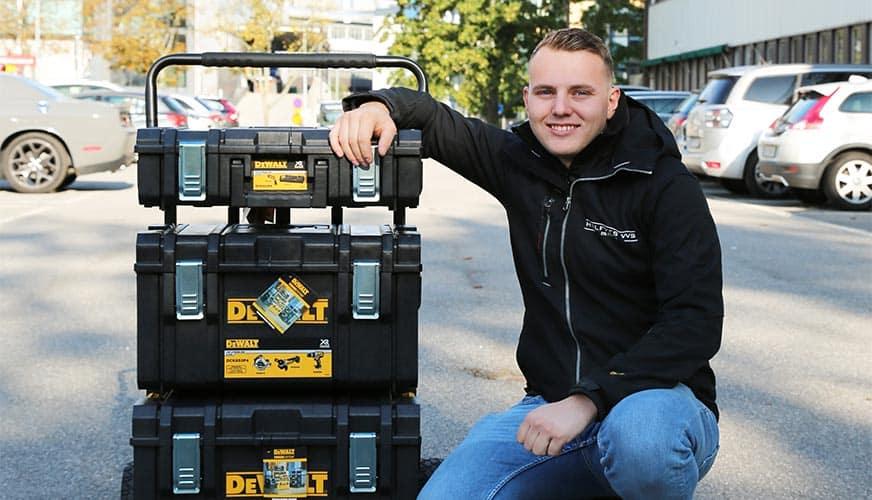 Jocke vann verktyg för 30 000 kronor