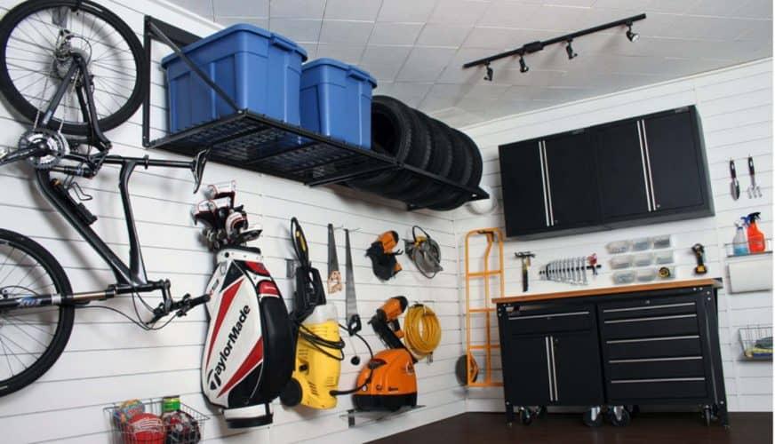 Småskaliga förvaringslösningar för garaget