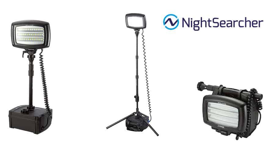 Vinn arbetsbelysning/strålkastare från NightSearcher!