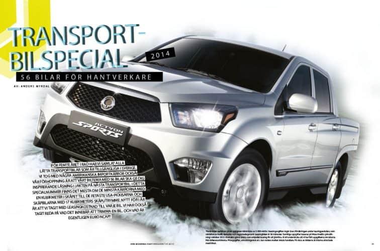 Transportbilspecial 2014 – 56 bilar för hantverkare