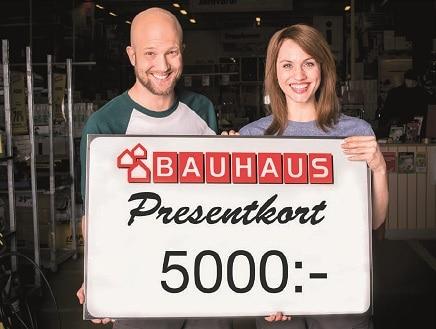 Tävling! Vinn ett presentkort på Bauhaus! (värde 5.000kr!)