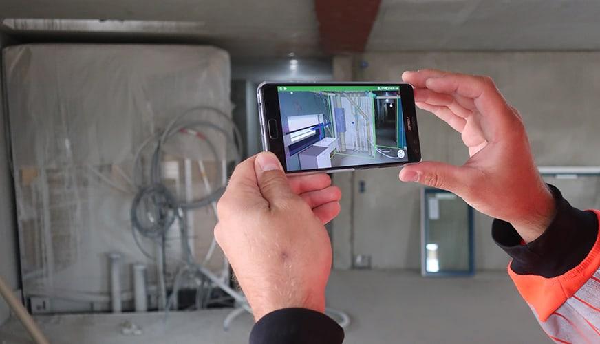 En mix av verklighet och 3D direkt i mobilen