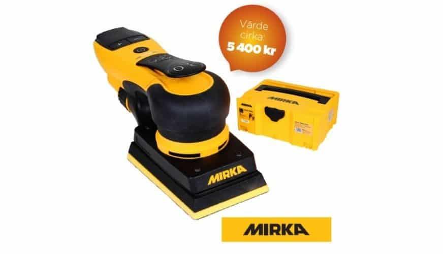 Tävla om en slipmaskin från Mirka