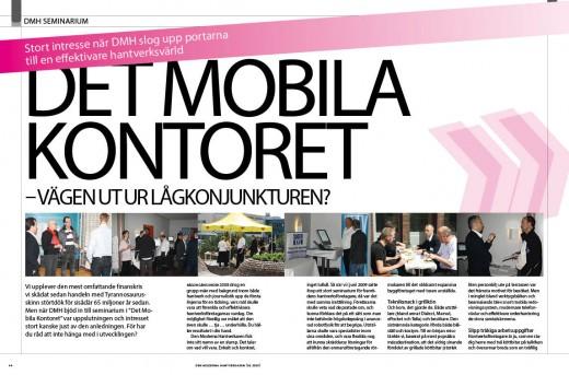 reportage mobila kontoret, seminarium 6-2009
